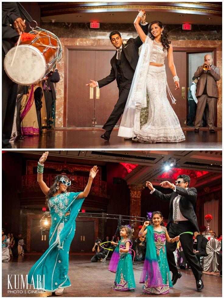 Indian bridal party. Image courtesy of Kumari Photo + Cinema. Discover more Indian Bridal Party inspiration at www.shaadibelles.com #weddings #southasian #shaadibelles #bridemaids