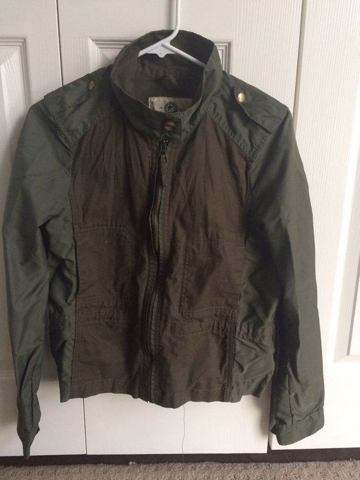 Lucky Brand Utility Military Field Jacket Olive Green Medium #LuckyBrand #Military #Casual