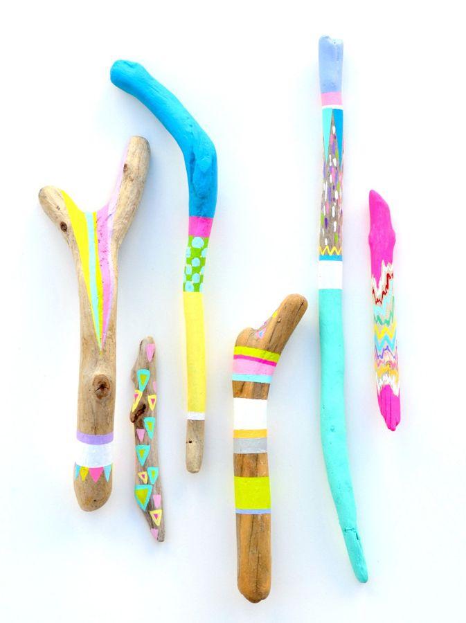 palos pintados combinados en flúor
