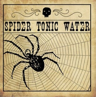 Spider Tonic Water label.