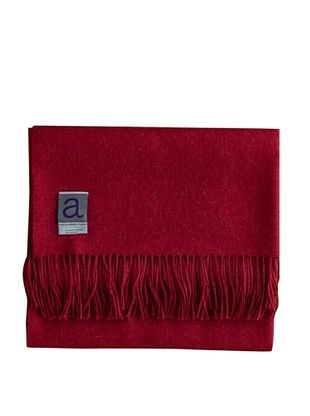 Alicia Adams Alpaca Melange Alpaca-Blend Throw, Red, 51