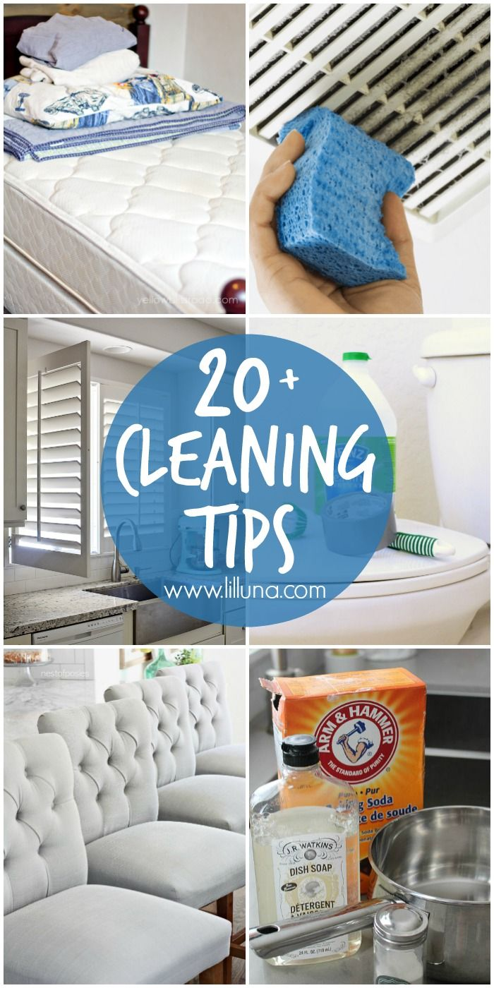20+ Cleaning Tips - a roundup of MUST-SEE tips to help you keep your house clean all year long!