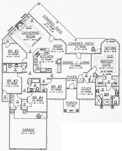 House Plan 53529. 25  best ideas about 5 Bedroom House Plans on Pinterest   4