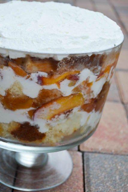 Peach Pie Trifle