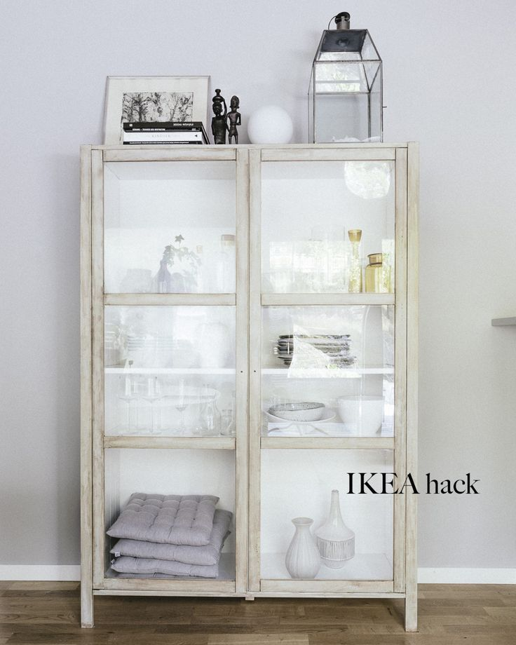 Make an TINE K inspired display cabinet from IKEA Björknäs. Step by step instructions in post.