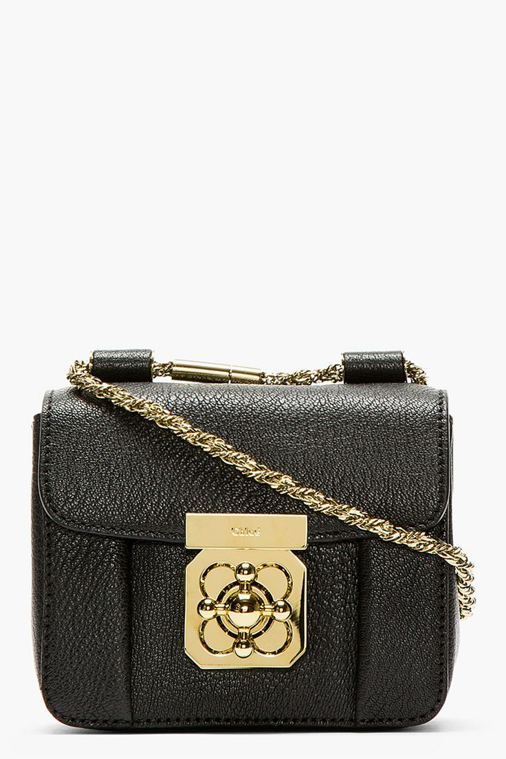 chloe bag online shop - Chloe Black Grained Leather Mini Elsie Bag | { bag lady ...