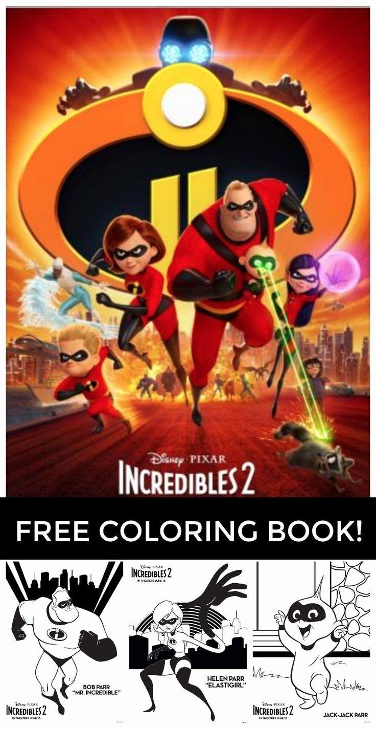 Coloring Sheet Number 2 Luxury Free Printable Incredibles 2 Coloring Pages All Of These Disney Pixar Pixar Disney