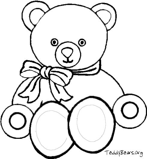 Coloring Picture of Teddy Bear