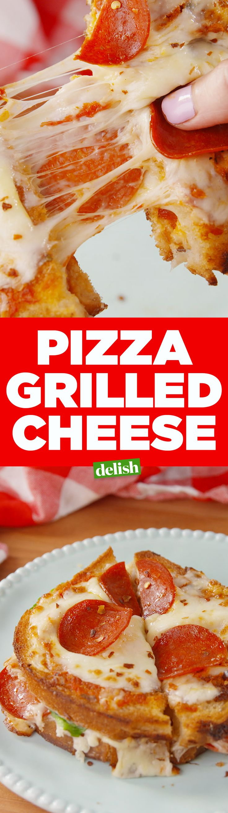 Pizza Grilled Cheese is probably the best thing we've ever made. Get the recipe on Delish.com.