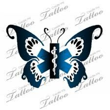 Female EMT Tattoos   Butterfly EMT tattoo   Tattoo Ideas