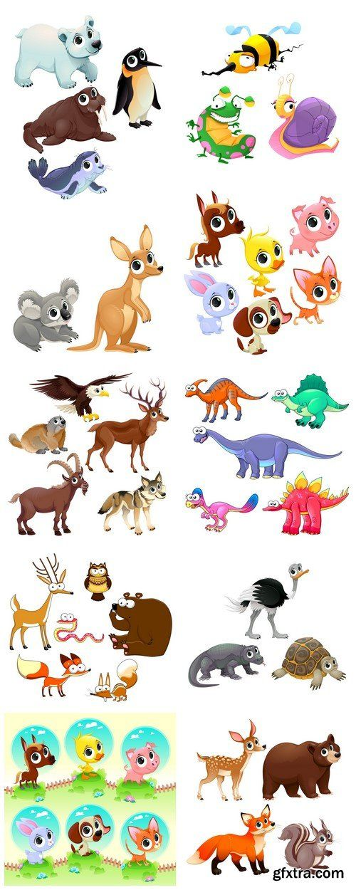 Funny animals 10X EPS