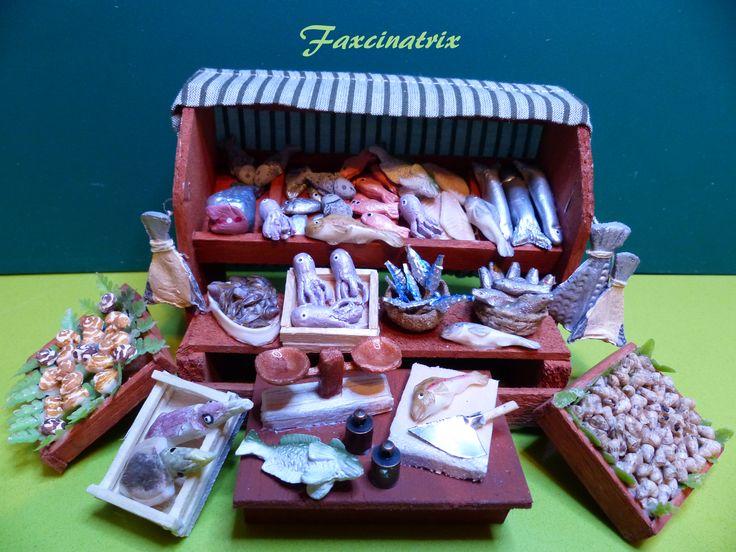 Pescaderia ampliada mi belen puestos mercado - Figuritas para el belen ...