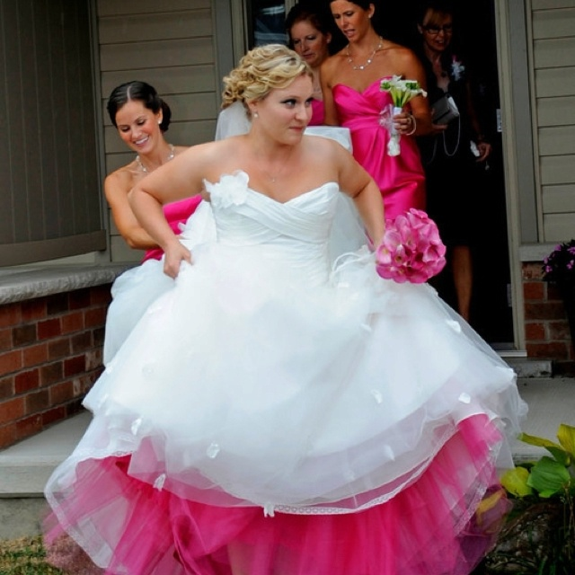 Wedding dresses with colored petticoats : Wedding colors flowers stuff forward colored petticoat