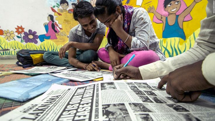 Once an illiterate street food seller, New Delhi teenager Shambhu is now the editor of a newspaper for other street children.