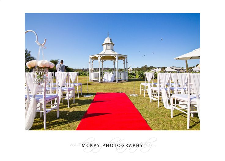 Breakfast Point Country Club wedding ceremony location at gazebo