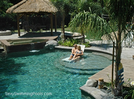 Swimming Pool With A Useable Baja Shelf Put Those Chairs Right In.  147e7a4d6ed2a77b87e327fb61d7438b