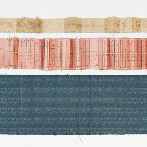 Woven Song by Glithero_ Fabrics made from organ music by Glithero to be presented in Milan