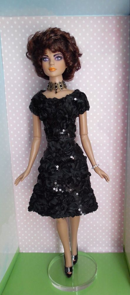 Ooak Vintage Custom Made Black Dress 22 Quot Doll Outfit Fits