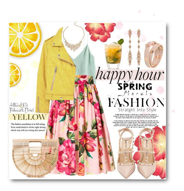 """Happy Hour:: Fresh Meets Floral"" by stacypark86 ❤ liked on Polyvore featuring Dolce&Gabbana, Valentino, Cult Gaia, Nordstrom Rack, MANGO, Fernando Jorge, Tory Burch and Talbots"