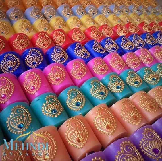 Mini Scented Colourful Candle Wedding Favours Mehndi Gifts Etsy Indian Wedding Favors Candle Wedding Favors Wedding Gift Favors
