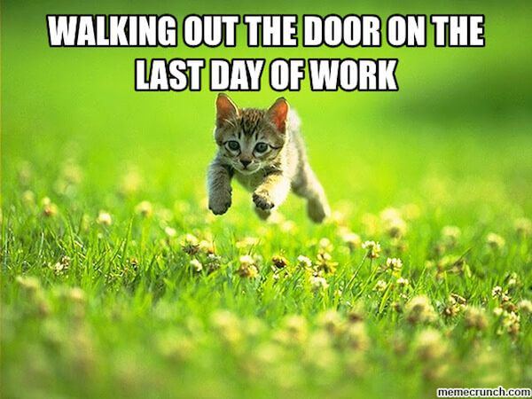 25 Memes To Celebrate Your Last Day At Work Last Day At Work Weekend Humor Weekend Meme