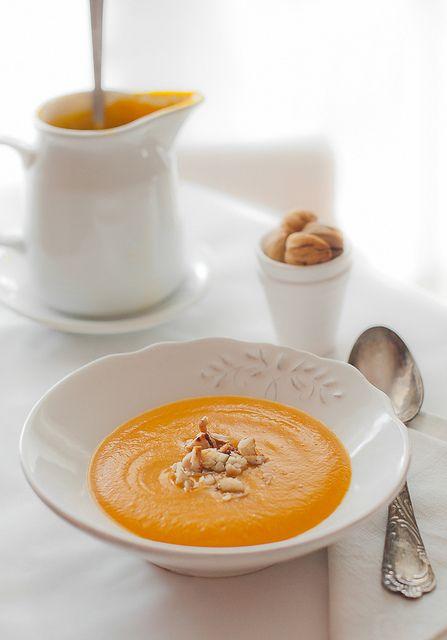 Zuppa di Zucca e Castagne, adorooo!