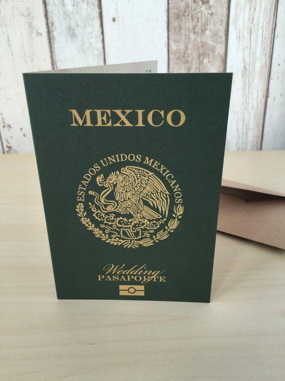 Personalised Passport Wedding Invitations Mexican Mexico | Destination  Abroad Travel Beach