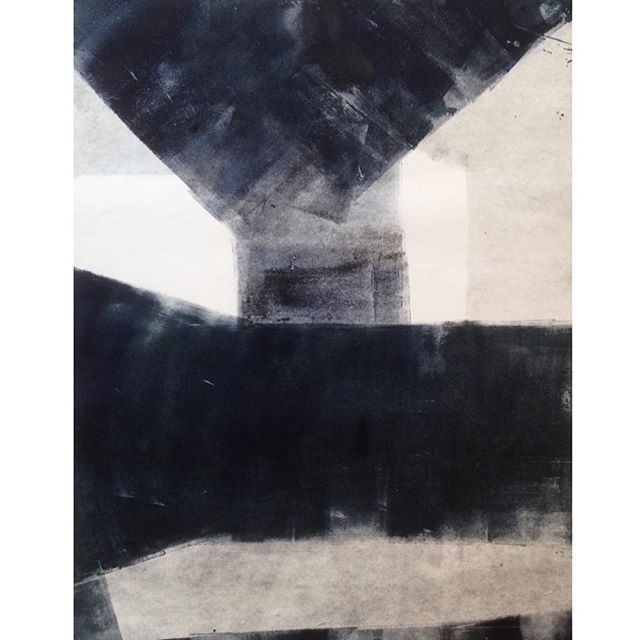 Julia Mota // Monotipia sobre papel japonês // monotype on japanese paper // 40x55cm