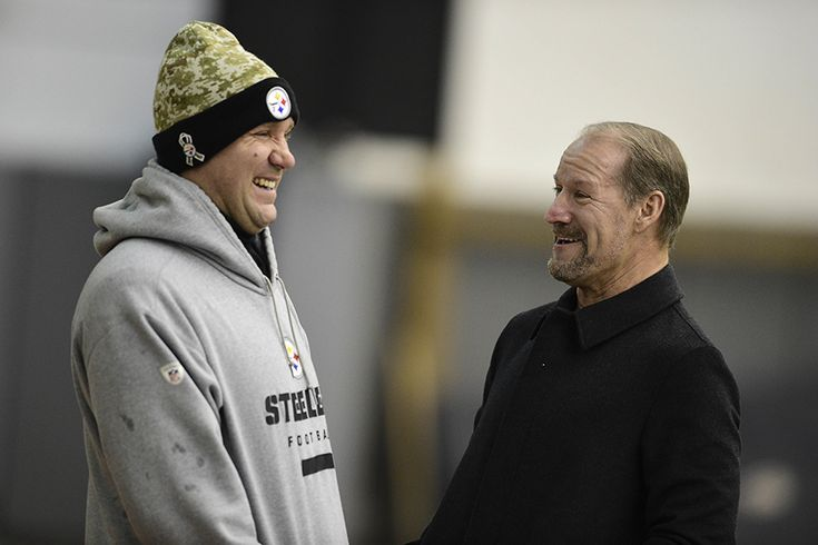 Big Ben and Bill Cowher, the former head coach who coached Roethlisberger and the Steelers to a Super Bowl victory in 2005.