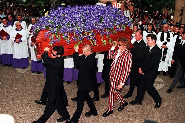 Michael Hutchence Funeral 1997 Andrew Farriss Garry