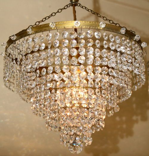 Antiques Atlas Five Tier Strass Waterfall Chandelier Crystal