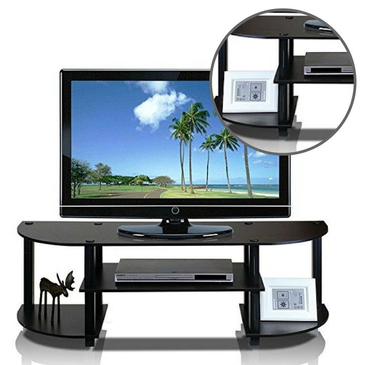 Durable Entertainment Center Console Home TV Stand Contemporary Media Storage  #DurableEntertainmentCenterConsole #Contemporary