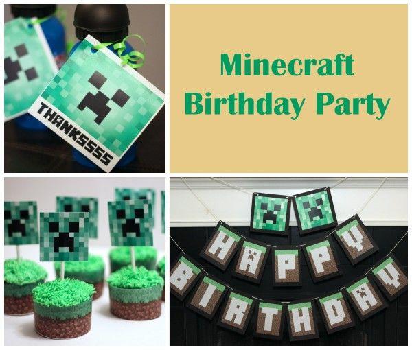 Minecraft Birthday Party Ideas - Mom vs the Boys