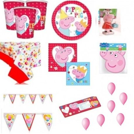 KIT PARTY COMPLEANNO PEPPA PIG CANDELINA + INVITI