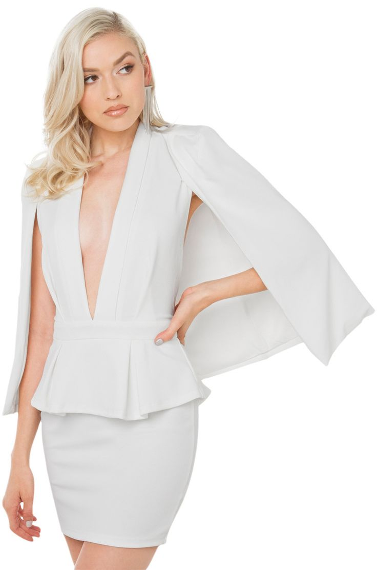 FIND Women's Sleeveless Peplum Cape Perfect For Sale Purchase Cheap Online fWxeo