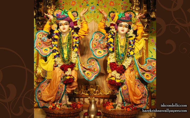 To view Gaura Nitai  Wallpaper of ISKCON Dellhi in difference sizes visit - http://harekrishnawallpapers.com/sri-sri-gaura-nitai-iskcon-delhi-wallpaper-001/