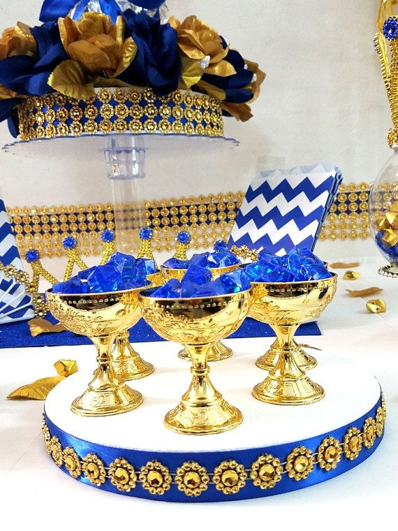 12 NEW Gold Cup Favors For Royal Prince Baby Shower / Boys Little Prince  Prince Baby Shower Theme And Deocrations