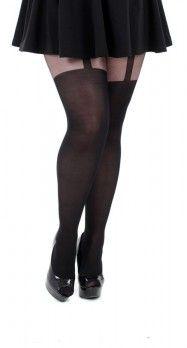 plus size mock garter belt pantyhose 1xl 2xl 3xl