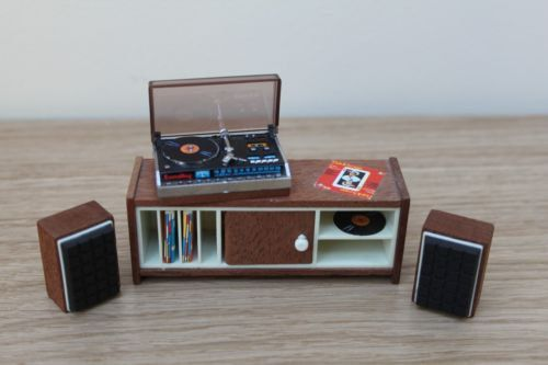 Lundby Stereo Set with Speakers by VintageLundbyLove on Etsy, £32.99