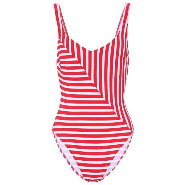 Araks Harley Swimsuit ($300) ❤ liked on Polyvore featuring swimwear, one-piece swimsuits, red, araks, araks swimwear, red bathing suit, red one piece swimsuit and swimsuit swimwear