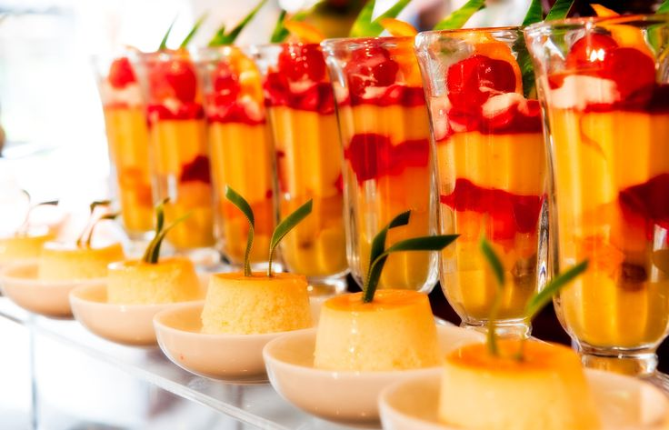Delicious desserts displayed at The Taprobane, Cinnamon Grand Colombo.