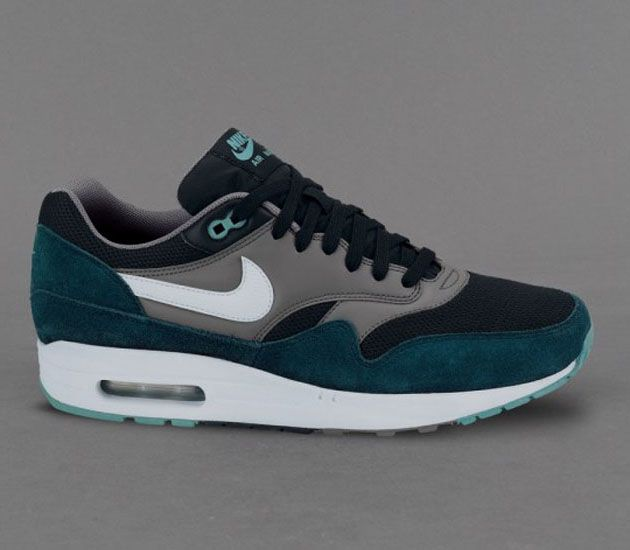 Nike Air Max 1 Essential-Black-White-Mid Turquoise-Cool Grey