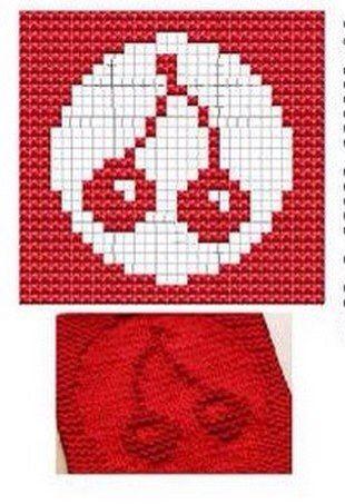 Cherry Knit Dish cloths Pattern