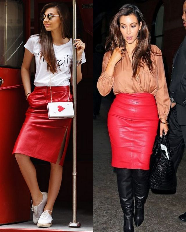 cbd13b9ce 40 Leather Pencil Skirt Outfits That'll Make You Want A Leather Skirt |  Sith chic | Skirt outfits, Leather skirt, Red leather skirt