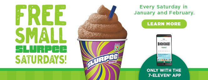 FREE Slurpee Every Saturday at 7 Eleven - http://www.guide2free.com/food-and-drink/free-slurpee-every-saturday-7-eleven/