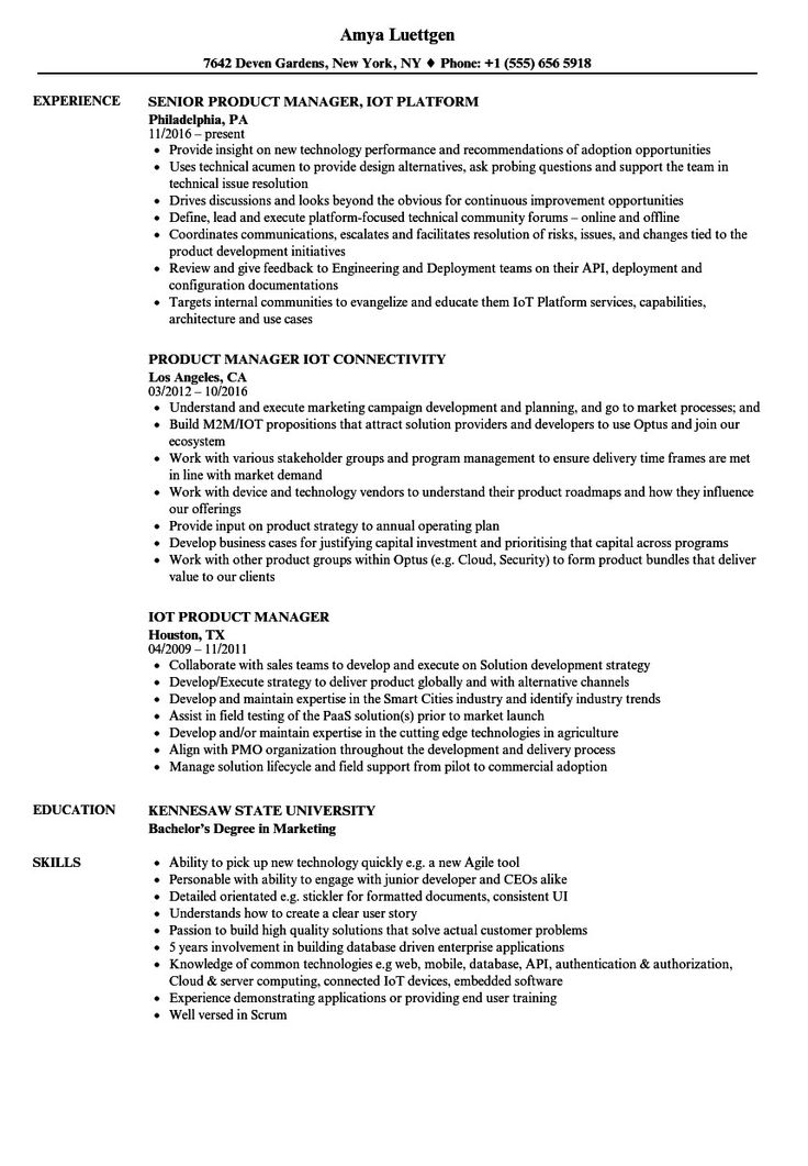 Product Manager Resume Example Inspiring Product Manager