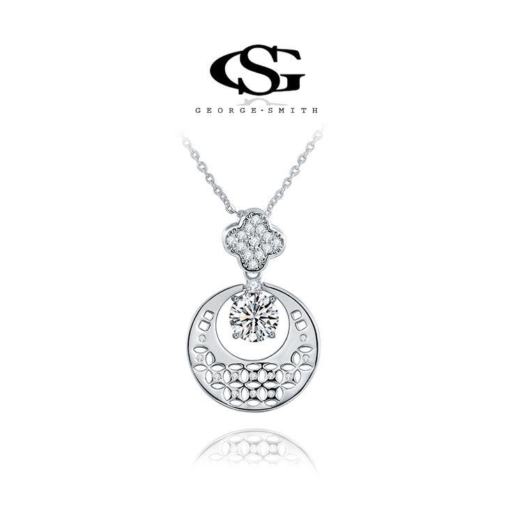G & S Марка Рождественский Подарок Platinum Покрытием Монета Ожерелье Цветочные Ожерелья Для Женщин Ювелирные Изделия