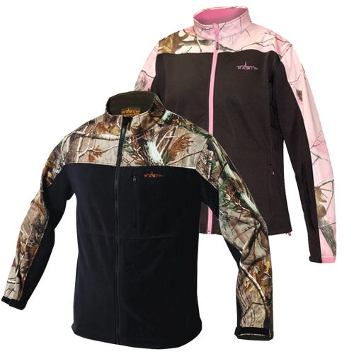 Habit Men's or Women's Camo Windproof Fleece Soft Shell Jacket