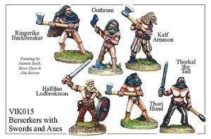 Viking Berserkers With Swords And Axes - VIK015
