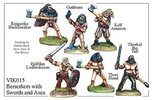 Viking Berserkers With Swords And Axes - VIK015